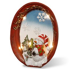 National Tree Company Light-Up Snowman Table Christmas Decor