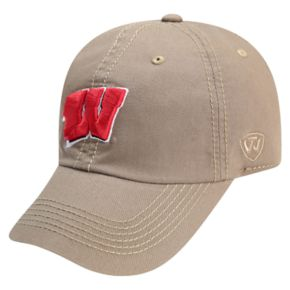 Adult Top of the World Wisconsin Badgers Crew Adjustable Cap