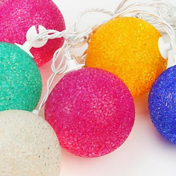 6 Multi-Colored Twinkle Indoor / Outdoor Christmas Lights