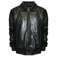 Men's Franchise Club Home Base Lambskin Leather Bomber Jacket