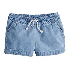 Toddler Girl Jumping Beans® Chambray Dolphin Shortie Shorts