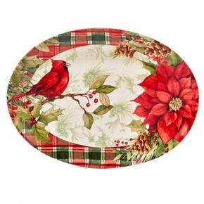 Certified International Winter Field Notes Cardinal Rectangular Platter