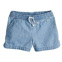 Girls 4-10 Jumping Beans® Woven Chambray Dolphin Shorts