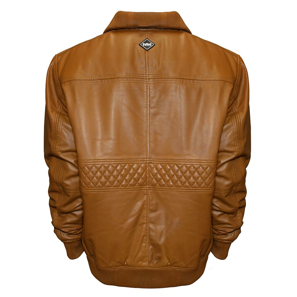 Men's Franchise Club Home Base Classic-Fit Lambskin Leather Bomber Jacket