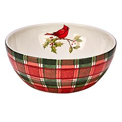 Certified International Winter Field Notes Cardinal Deep Serving Bowl