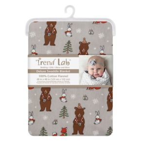 Trend Lab Cup of Cocoa Jumbo Deluxe Flannel Swaddle Blanket