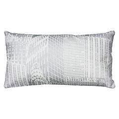 Rizzy Home Cityscape Metallic Foil Print Oblong Throw Pillow