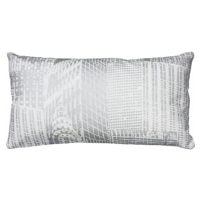Rizzy Home Cityscape Metallic Foil Print Oblong Throw Pillow