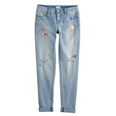 Girls 7-16 & Plus Size SO® Girlfriend Skinny Jeans