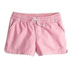Girls 4-10 Jumping Beans® Woven Slubbed Poplin Dolphin Shorts