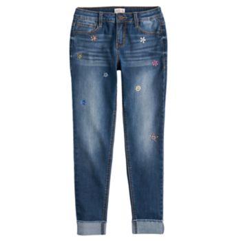 Girls 7-16 & Plus Size SO® Embellished Girlfriend Jeans