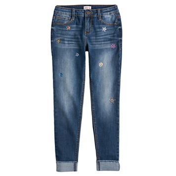 Girls 7-16 & Plus Size SO® Embellished Girlfriend Jeans