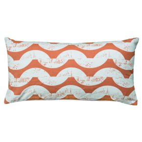 Rizzy Home Wave Print Oblong Throw Pillow