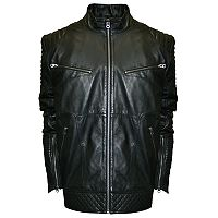 Men's Franchise Club Raw X Lambskin Leather Moto Jacket