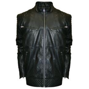 Men's Franchise Club Raw X Lambskin Leather Moto Jacket