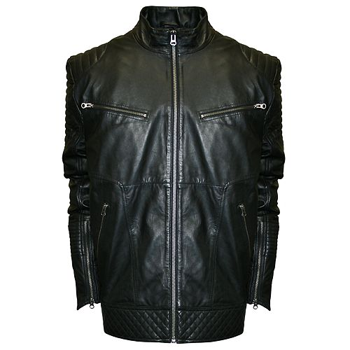 ab5c200e9 Men's Franchise Club Raw X Lambskin Leather Moto Jacket