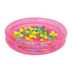 Bestway Up, In, & Over 2-Ring Ball Pit Pink Play Pool