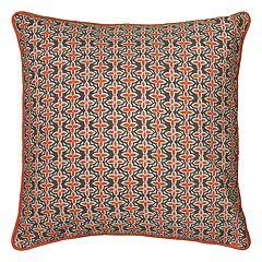 Rizzy Home Laura Fair Stripe Print Corded Throw Pillow