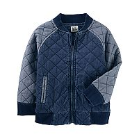 Toddler Boy OshKosh B'gosh® Quilted Chambray Jacket