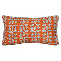 Rizzy Home Laura Fair Geometric Stripe Print Oblong Throw Pillow
