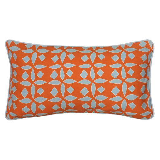 Rizzy Home Laura Fair Geometric Stripe Print Oblong Throw Pillow