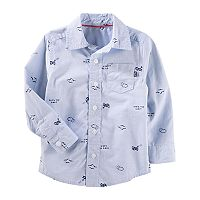 ToddlerBoy OshKosh B'gosh® Airplane Print Button-Up Shirt