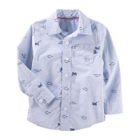 ToddlerBoy OshKosh B'gosh® Airplane Print Button-Up Shirt