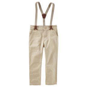 Toddler Boy OshKosh B'gosh® Khaki Pants with Suspenders