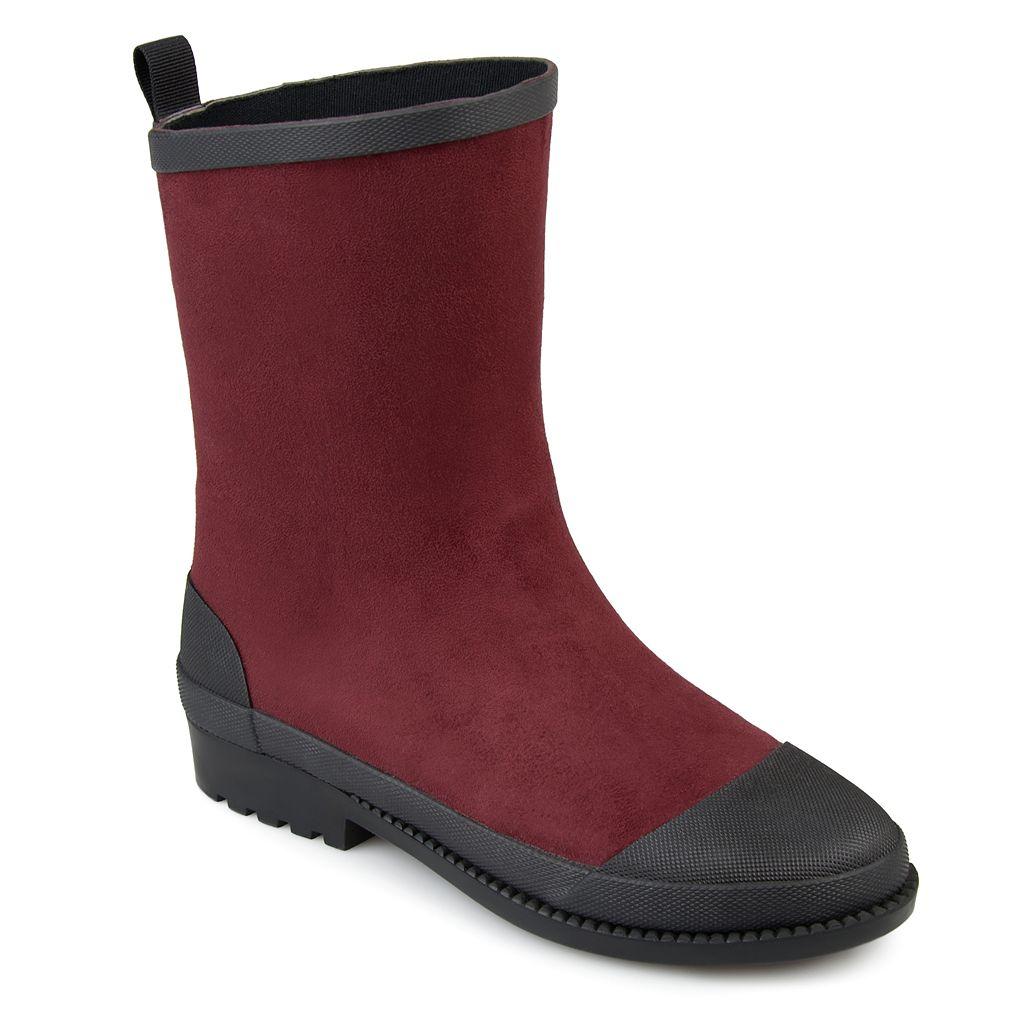 Journee Collection Kline Women's Water Resistant Rain Boots