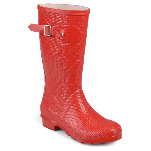 Journee Collection Drizl ... Women's Water Resistant Rain Boots