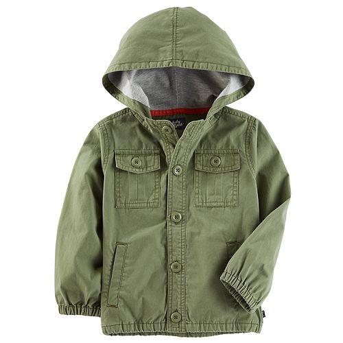 Toddler Boy OshKosh B'gosh® Olive Utility Jacket