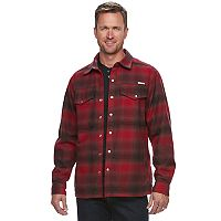 Big & Tall Men's Columbia Fireside Flame II Plaid Shirt Jacket