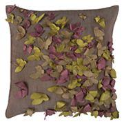 Rizzy Home Butterflies Cutout Textured Applique Throw Pillow