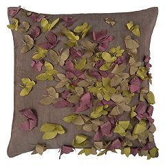 Rizzy Home Butterflies Cutout Textured Applique Throw Pillow