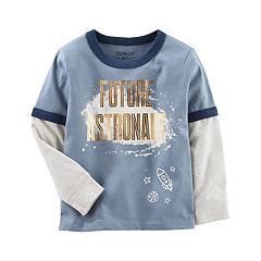 Toddler Boy OshKosh B'gosh® 'Future Astronaut' Mock-Layered Graphic Tee