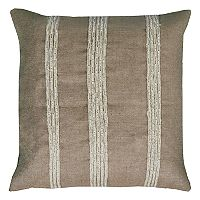 Rizzy Home Stripes Applique Embroidered Throw Pillow
