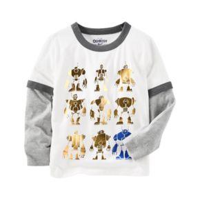 Toddler Boy OshKosh B'gosh® Robot Mock-Layered Graphic Tee