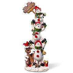 National Tree Company Stacked Snowman Table Christmas Decor