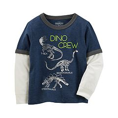 Toddler Boy OshKosh B'gosh® 'Dino Crew' Dinosaur Mock-Layered Graphic Tee