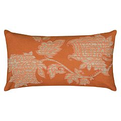 Rizzy Home Floral Print Embroidered Oblong Throw Pillow