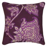 Rizzy Home Floral Print Embroidered Throw Pillow