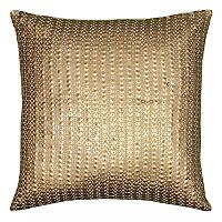 Rizzy Home Allover Sequin Beaded Applique Throw Pillow