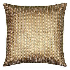 Rizzy Home Allover Sequin Beaded Applique Throw Pillow