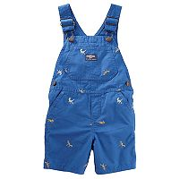 Toddler Boy OshKosh B'gosh® Embroidered Dinosaur Shortalls