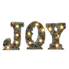 National Tree Company Pre-Lit 'JOY' Christmas Decor 3-piece Set