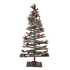 National Tree Company Light-Up Artificial Wood Tree Christmas Decor