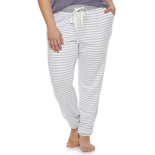 6fa0a526a4eb0 Plus Size SONOMA Goods for Life™ Essential Lounge Jogger Pants