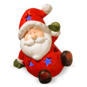 National Tree Company Light-Up Santa Christmas Table Decor