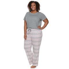 Plus Size SONOMA Goods for Life™ 3 pc Pajama Set