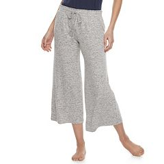 Women's SONOMA Goods for Life™ Wide-Leg Crop Lounge Pants